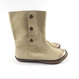 BC Footwear Beige Suede Boots Size 6
